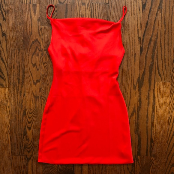 COPY - Red Cowl Neck Slip Dress (Brand New)